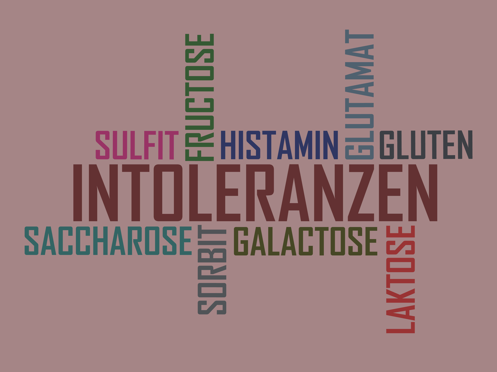 Fruktoseintoleranz, Malabsortion, Laktoseintoleranz, Unverträglichkeit, Histaminintoleranz, Glutensensitivität, Glutenintoleranz, Zöliakie
